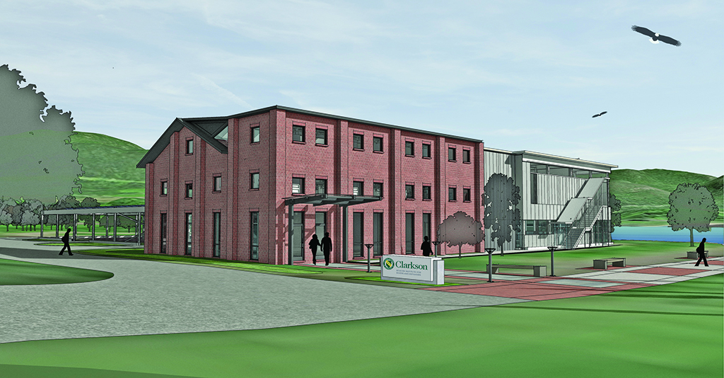 Rendering of New Building, Front Elevation