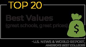 Top 20 best values (Great schools, great prices) - U.S. News & World Report